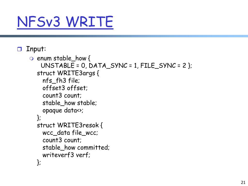 NFSv3 WRITE