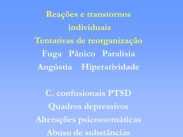 Reações e transtornos