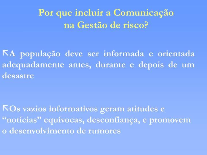 Por que incluir a Comunicação