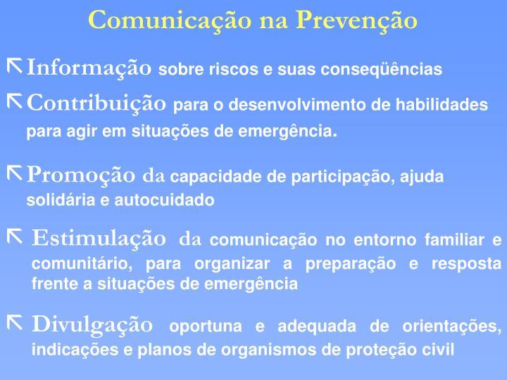 Comunicação na Prevenção