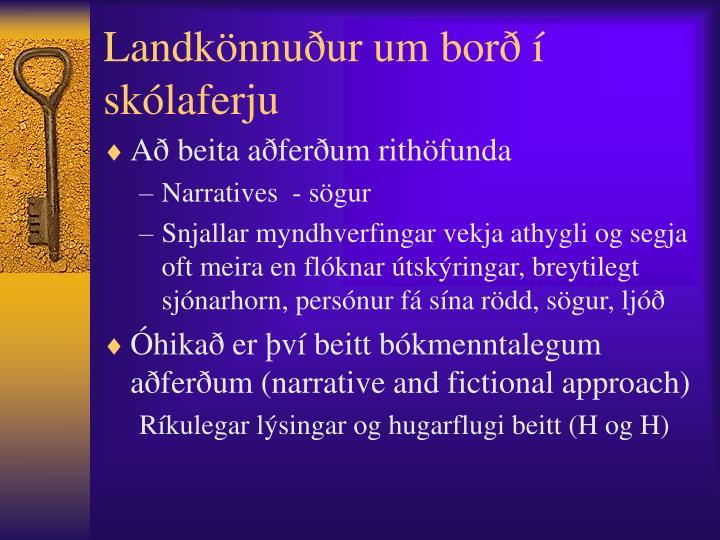 Landkönnuður um borð í skólaferju