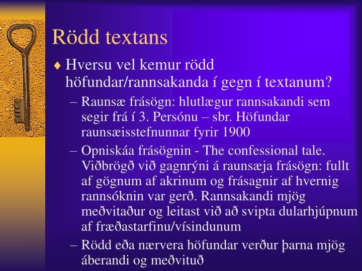 Rödd textans