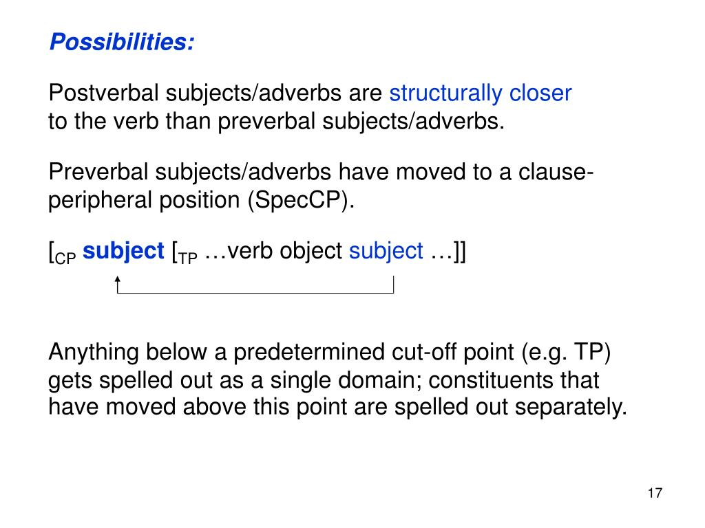 Possibilities: