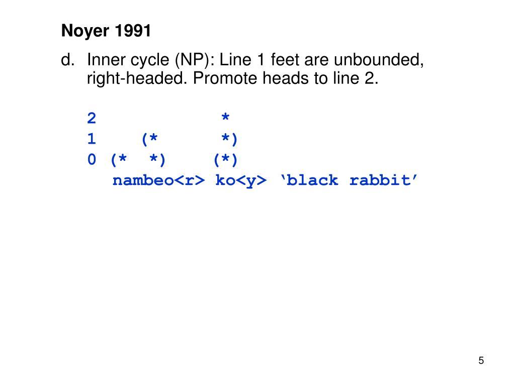 Noyer 1991