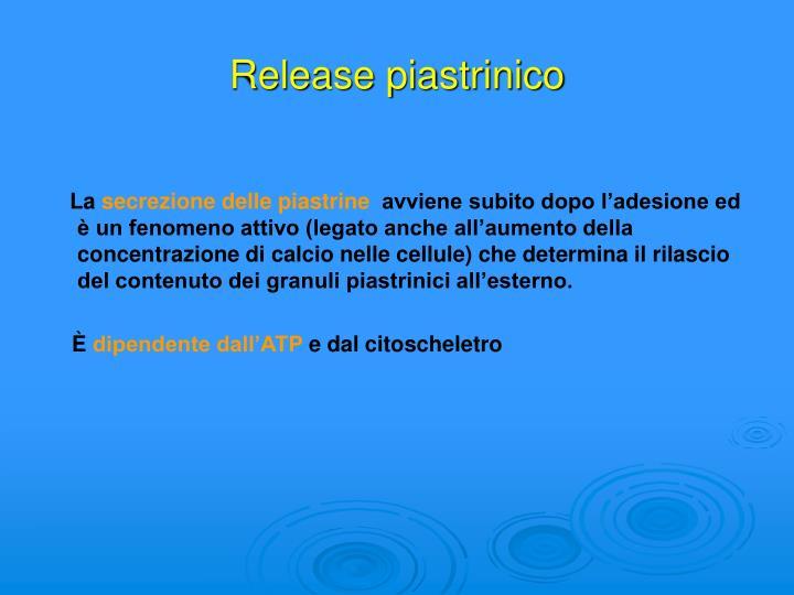 Release piastrinico
