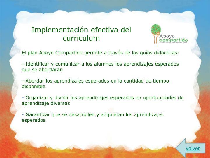 Implementación efectiva del currículum
