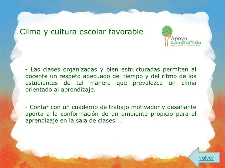 Clima y cultura escolar favorable
