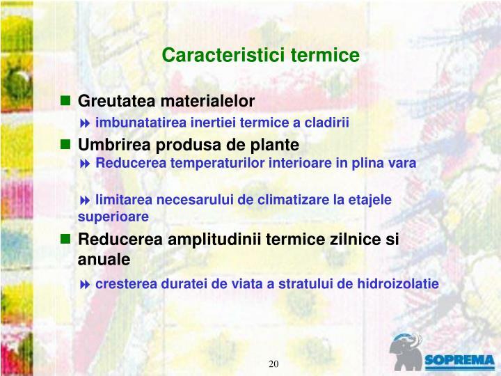 Caracteristici termice