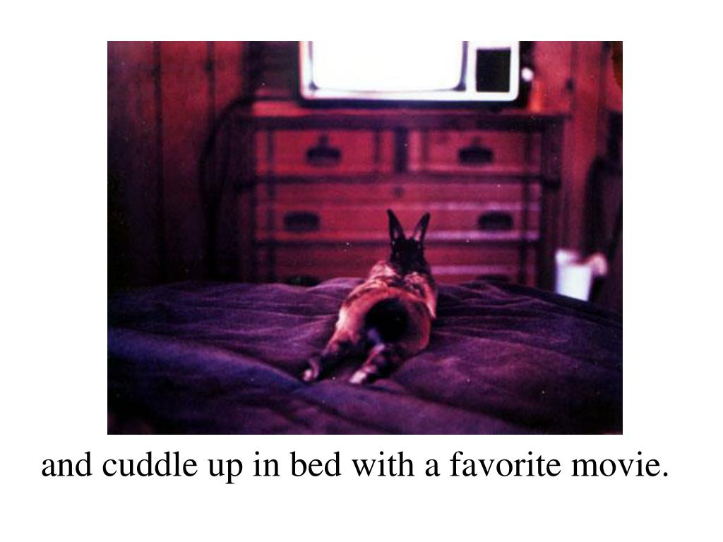 and cuddle up in bed with a favorite movie.