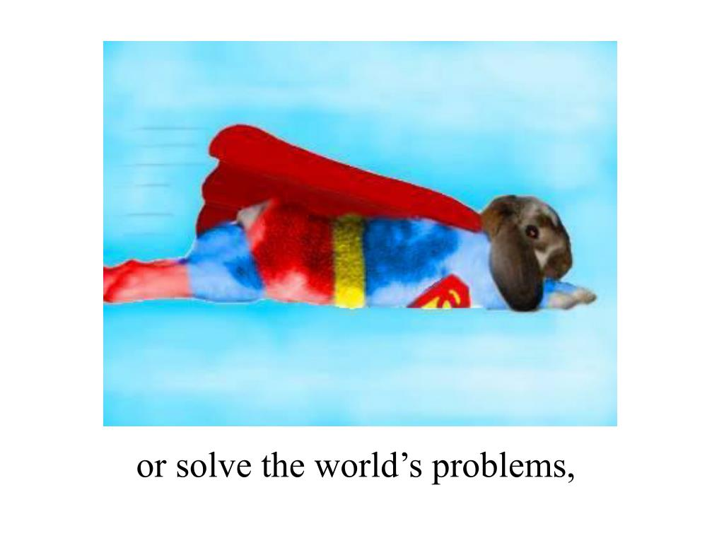 or solve the world's problems,