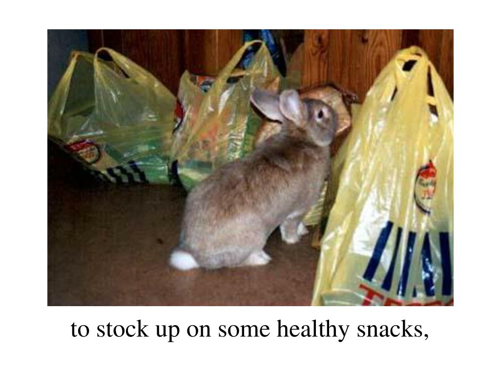 to stock up on some healthy snacks,