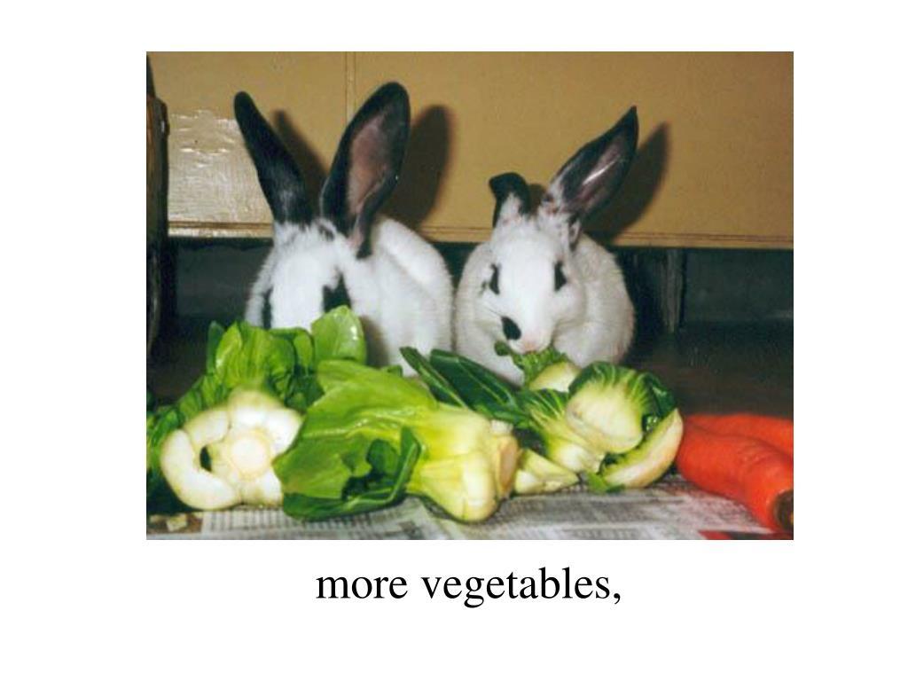 more vegetables,
