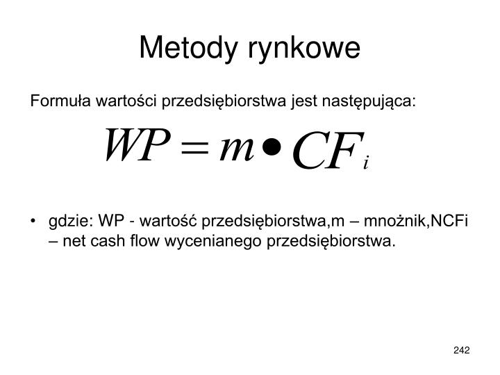 Metody rynkowe