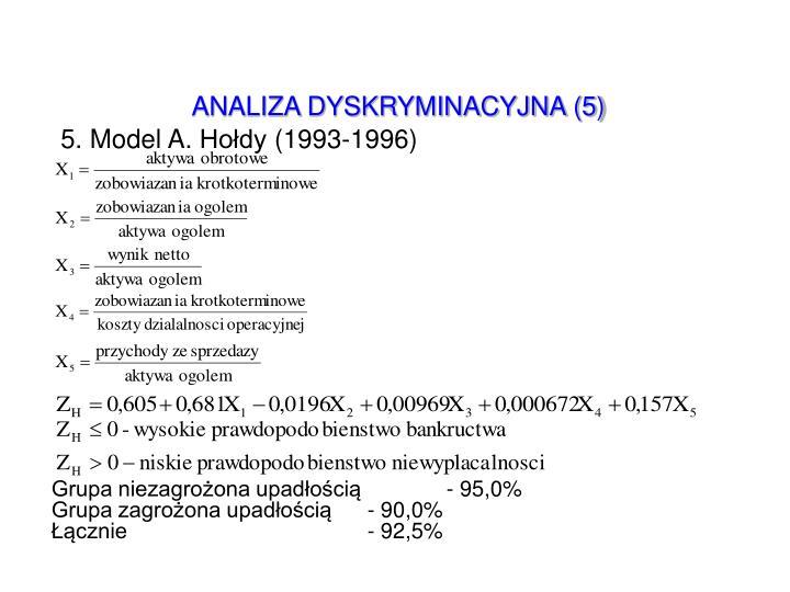 ANALIZA DYSKRYMINACYJNA (5)
