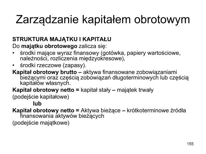 Zarządzanie kapitałem obrotowym
