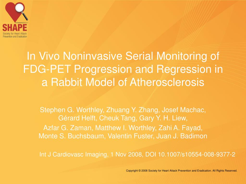 In Vivo Noninvasive Serial Monitoring of FDG-PET Progression and Regression in a Rabbit Model of Atherosclerosis