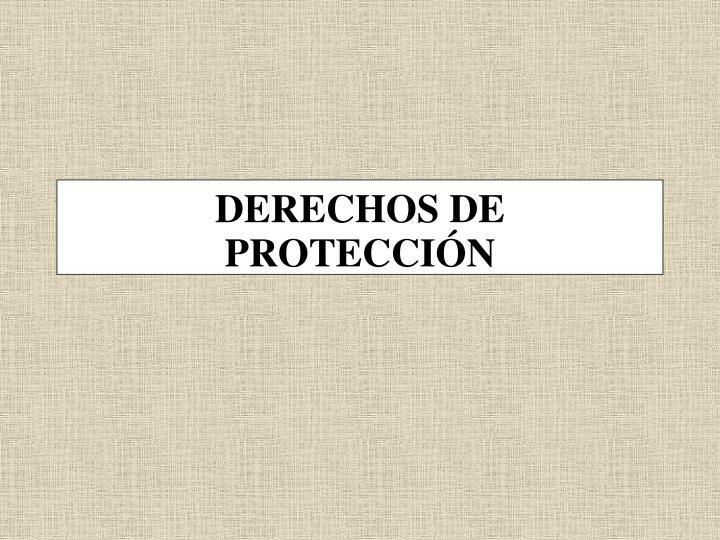 DERECHOS DE