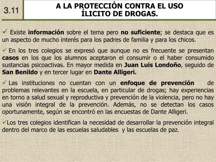 A LA PROTECCIÓN CONTRA EL USO