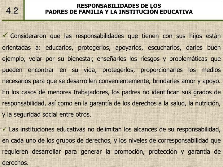 RESPONSABILIDADES DE LOS