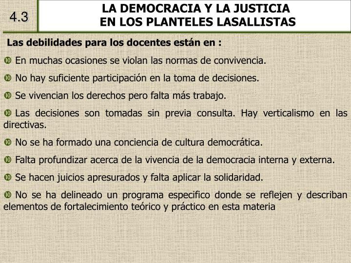 LA DEMOCRACIA Y LA JUSTICIA