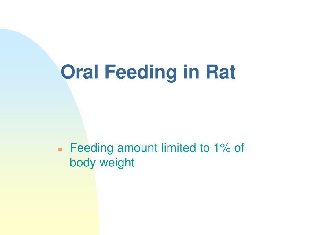 Oral Feeding in Rat