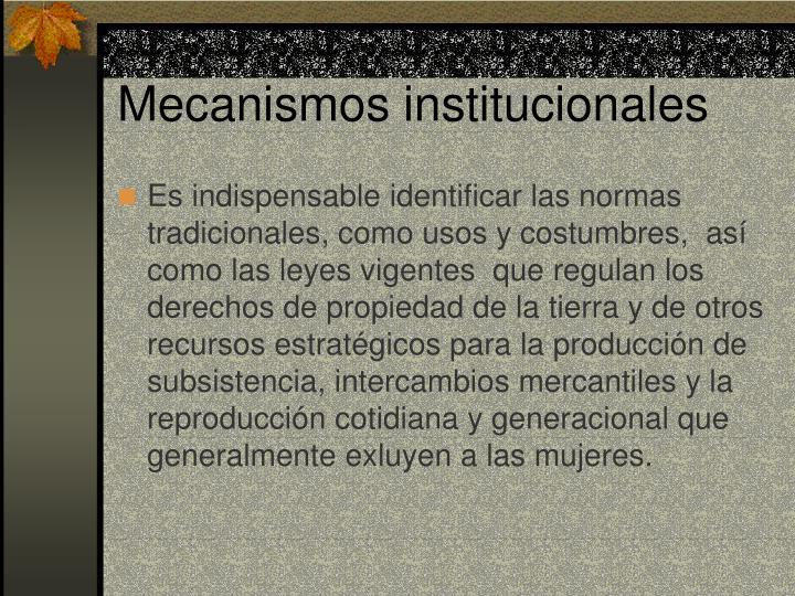 Mecanismos institucionales
