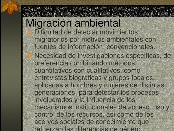 Migración ambiental