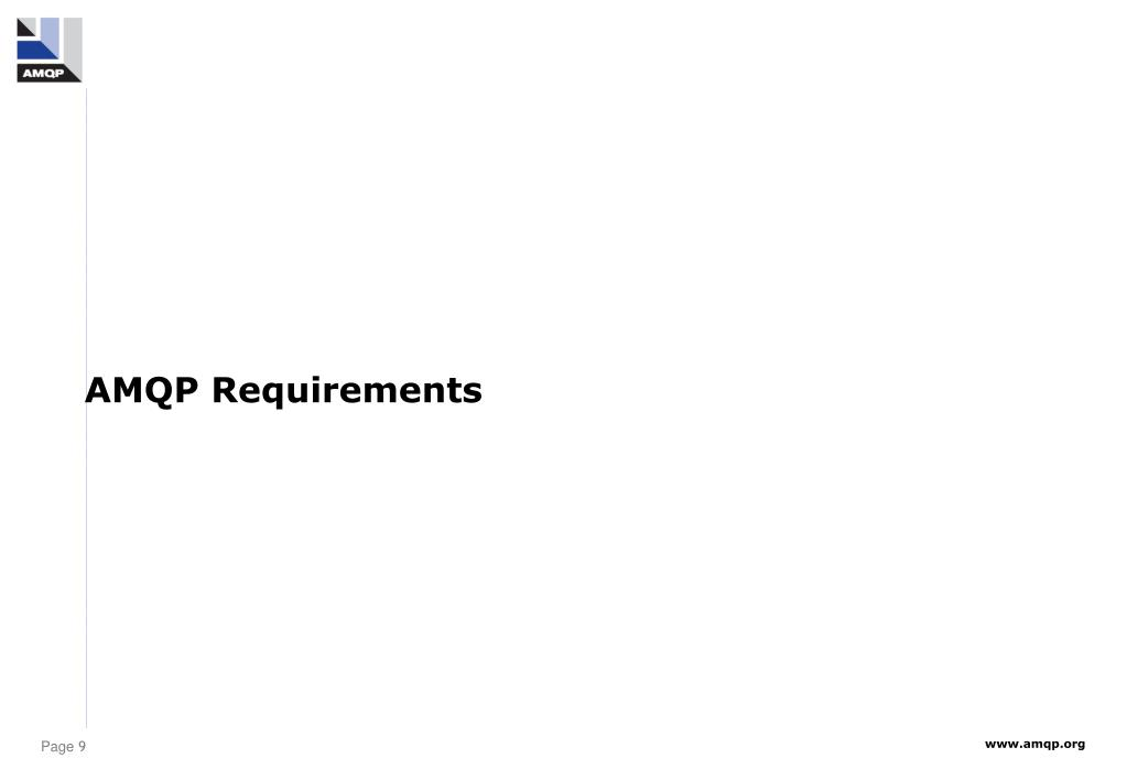AMQP Requirements