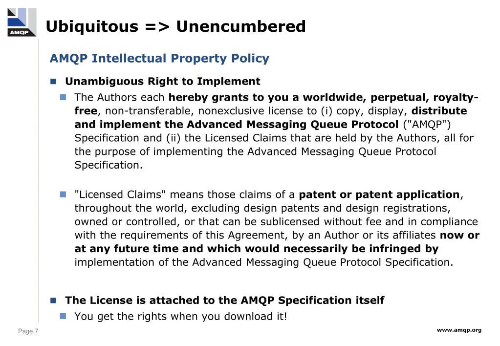 Ubiquitous => Unencumbered