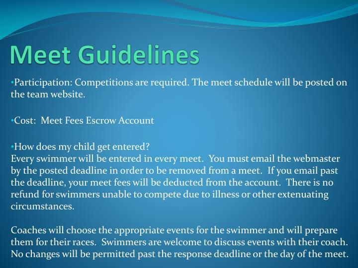 Meet Guidelines
