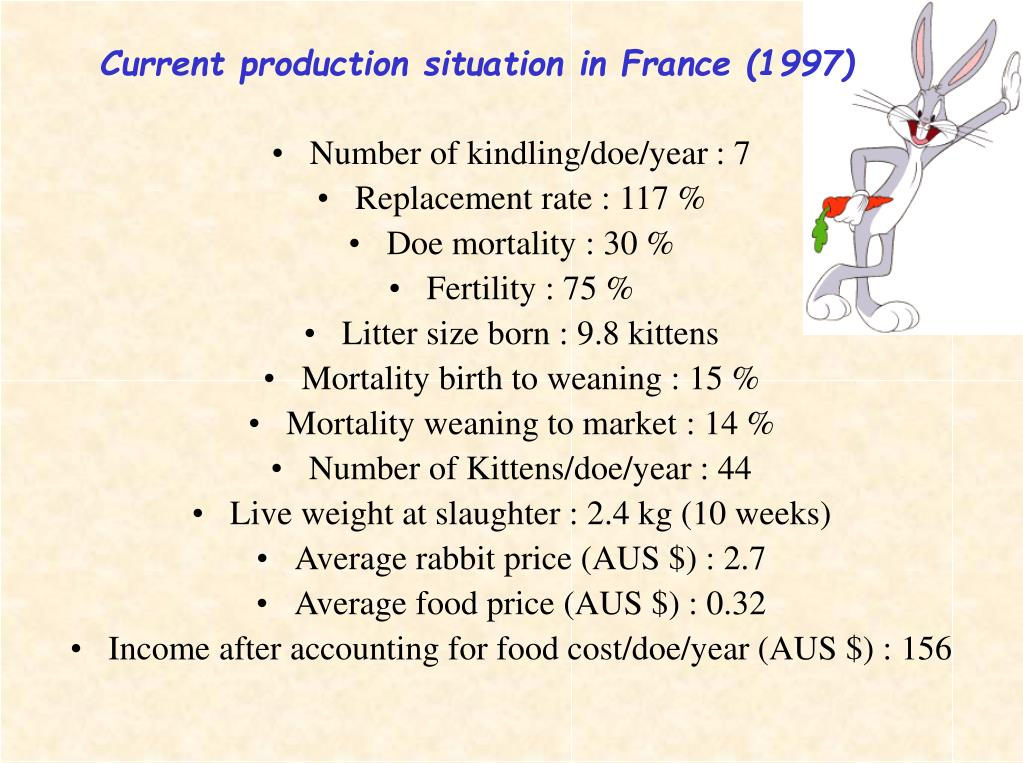 Current production situation in France (1997)