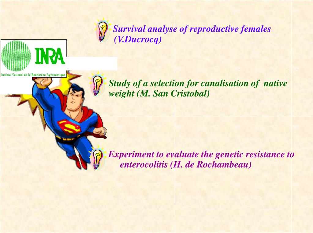 Survival analyse of reproductive females (V.Ducrocq)