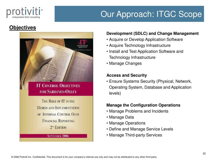 Our Approach: ITGC Scope