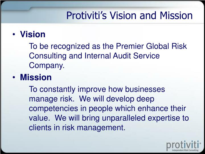 Protiviti's Vision and Mission