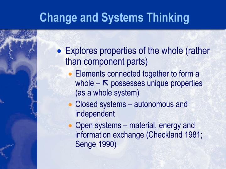 Change and Systems Thinking