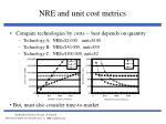 nre and unit cost metrics25