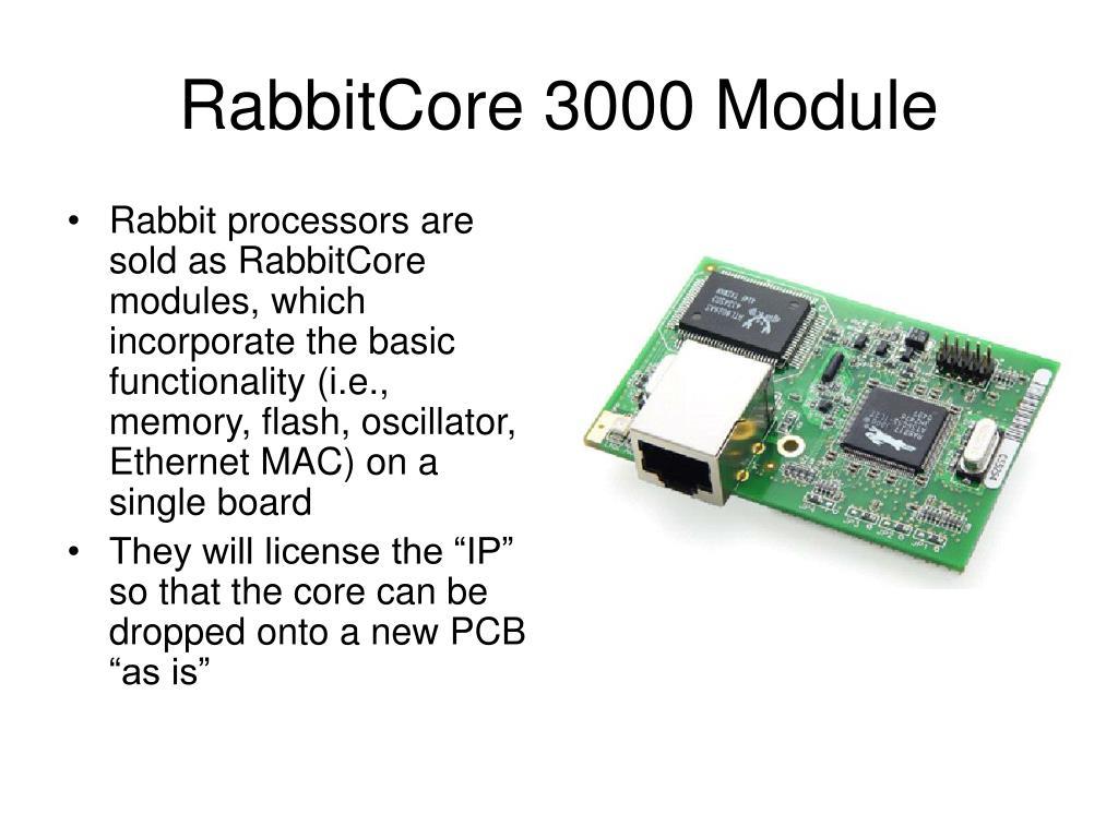RabbitCore 3000 Module