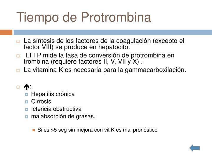 Tiempo de Protrombina