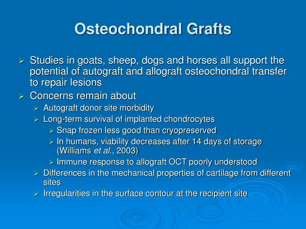 Osteochondral Grafts