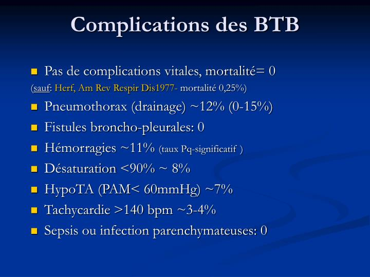 Complications des BTB
