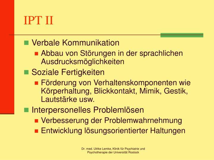 IPT II