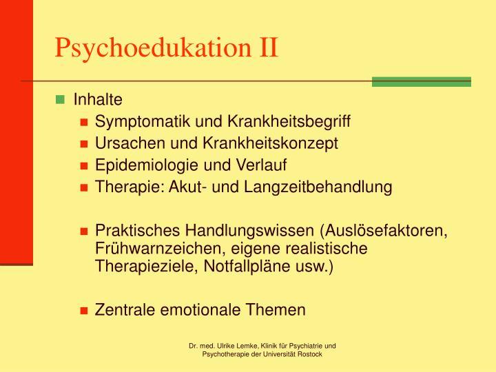 Psychoedukation II