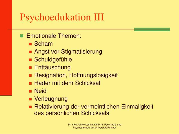 Psychoedukation III