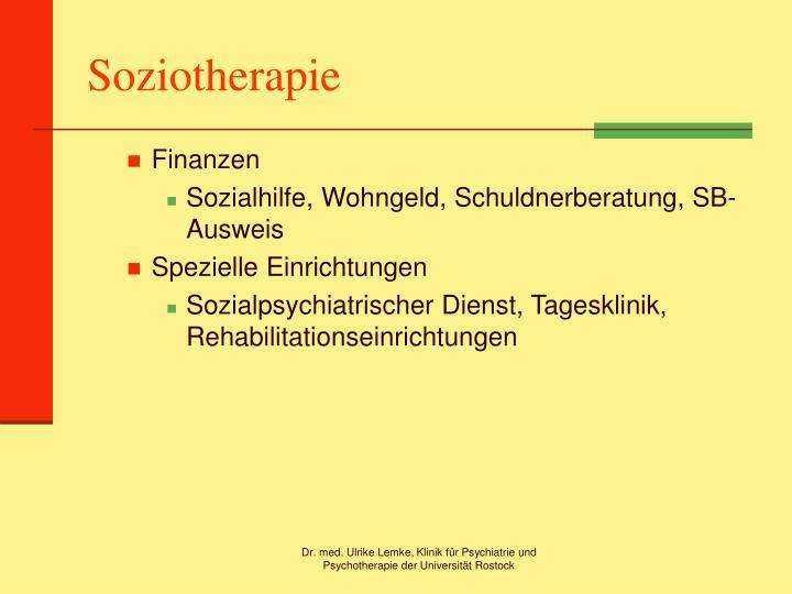Soziotherapie
