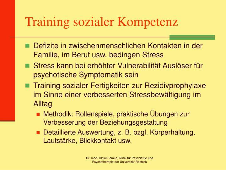 Training sozialer Kompetenz