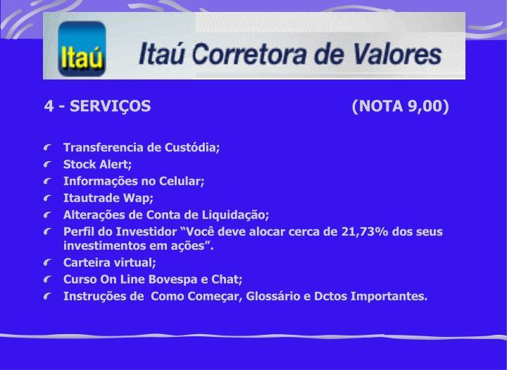 4 - SERVIÇOS(NOTA 9,00)