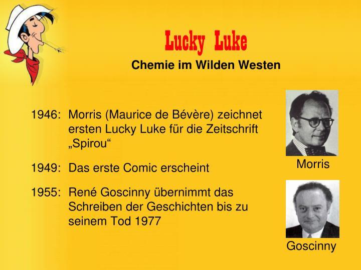 """1946: Morris (Maurice de Bévère) zeichnet ersten Lucky Luke für die Zeitschrift """"Spirou"""""""