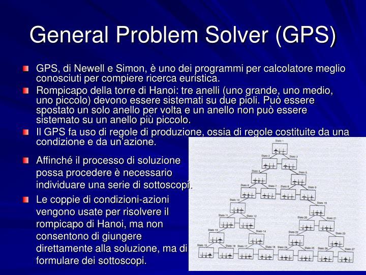 General Problem Solver (GPS)