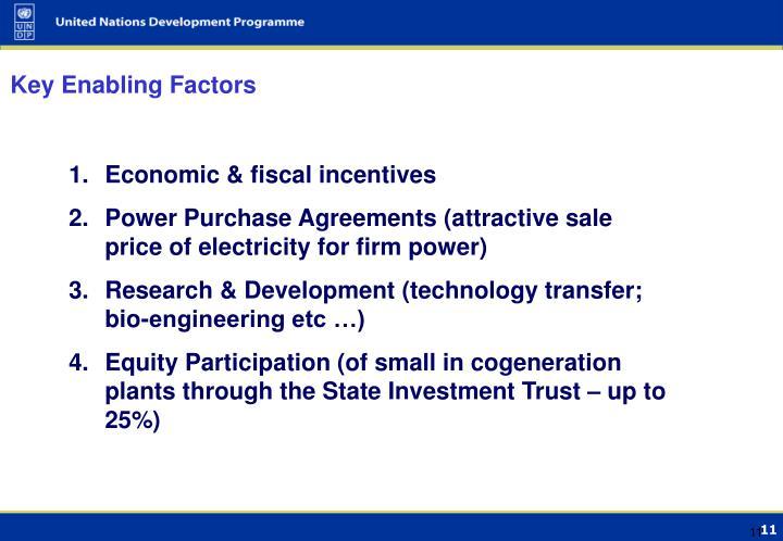 Key Enabling Factors