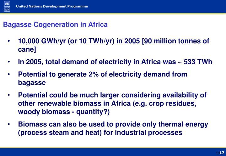 Bagasse Cogeneration in Africa